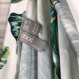 ASOS Swim - ASOS slinky jersey plunge beach romper palm print